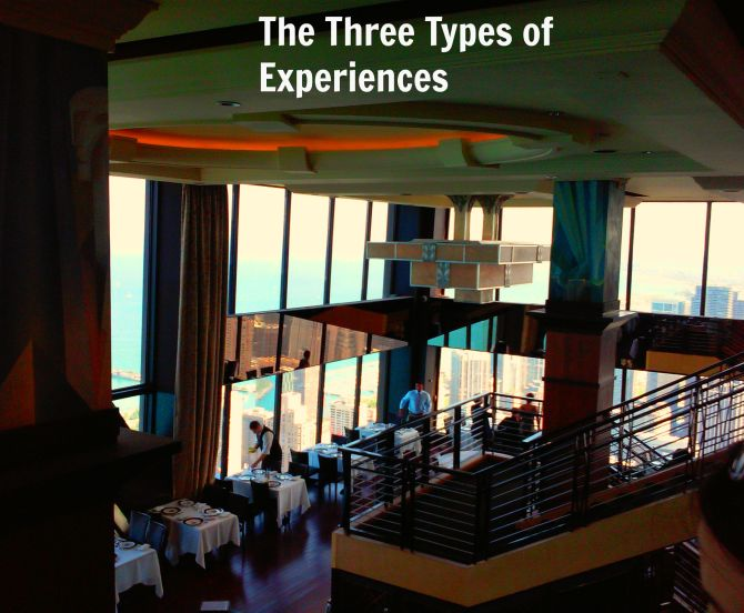 The Three Types of Experiences